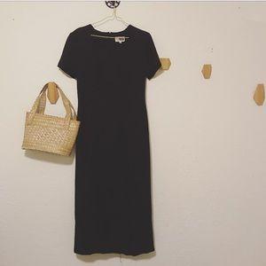 Vintage side-button dress